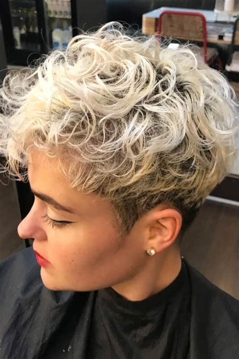 Blonde pixie with curly bangs. 177 Pixie Cut Ideas to Suit All Tastes In 2021   LoveHairStyles.com