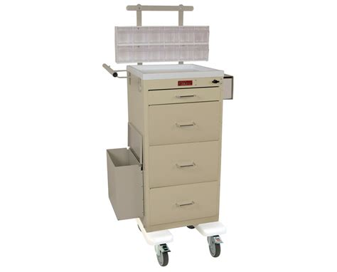 Harloff Mini Line Four Drawer Phlebotomy Cart Chest Of Drawers India Online Baby Crib With Wooden Storage Oil Rubbed Bronze Drawer Pull Kitchen Ikea Alex Knee Wall Under Counter Slides