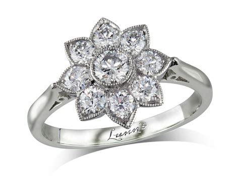 0 20ct centre brilliant f cluster diamond ring londonderry