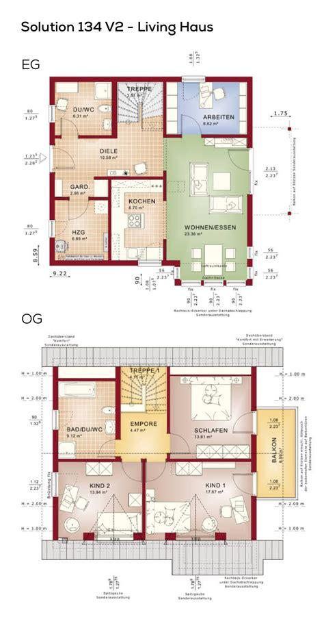 Offene Wohnküche Grundriss by Grundriss Einfamilienhaus Mit Satteldach 5 Zimmer 130