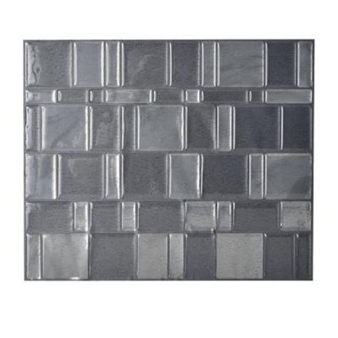 smart tiles home depot smart tiles onyx 11 55 in x 9 64 in peel and stick