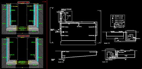 swimming pool wall details dwg detail  autocad