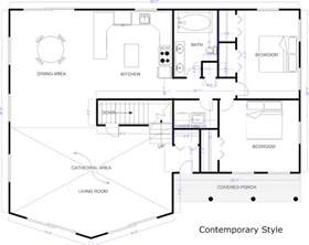 draw house plans blueprint software try smartdraw free