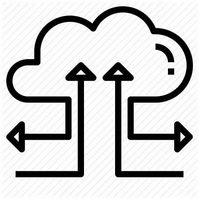 Input Output Icon Connection Computing Cloud Sync