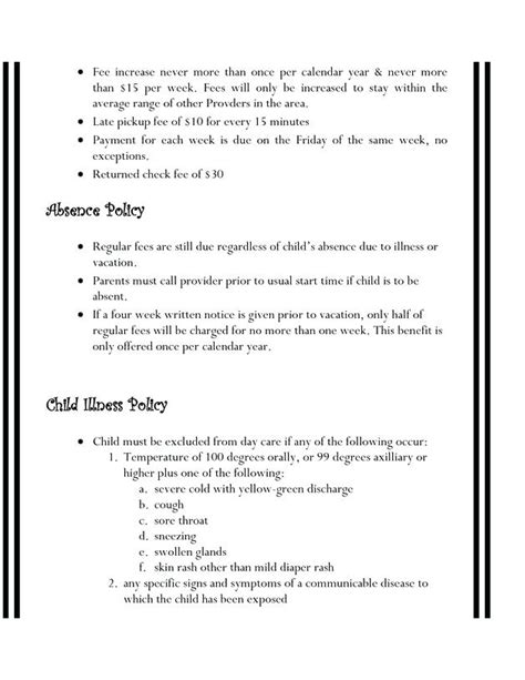 home daycare forms printable home day care forms printable angels daycare child pickup