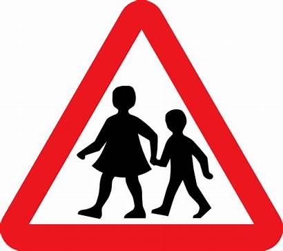 Pedestrian Crossing Sign Clip Zone Clipart Vector