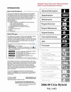 Tm  Honda Manual De Taller Honda Civic 2006 Al 2009 En Ingles