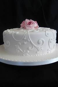 Simple Wedding Cake - towels-wedding-cakes