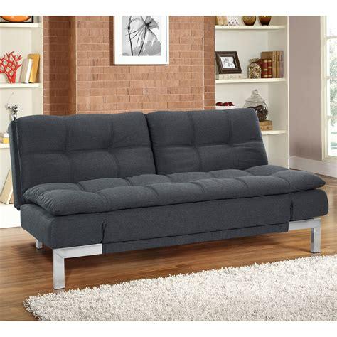 Convertible Loveseats by Serta Convertible Boca Sofa Charcoal Futons At