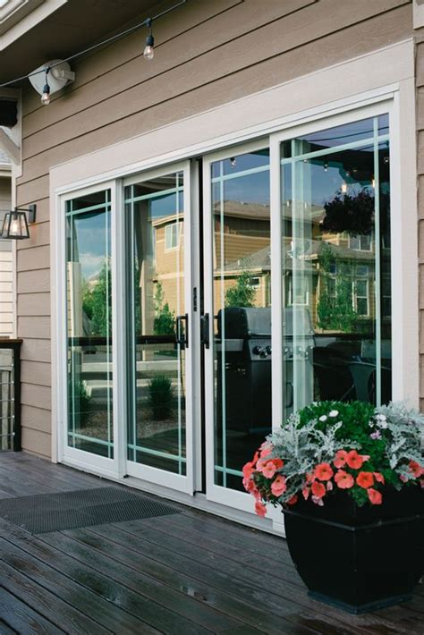 sliding french doors covered patios    decks