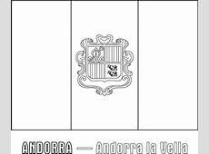 Andorra Nation Flag Coloring Page Download & Print