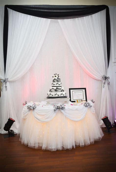 black  white cake table decor  sbd