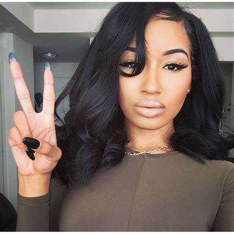 Black Hairstyles Sew Ins Pictures by 7a Human Hair Wave Bob Wigs Glueless