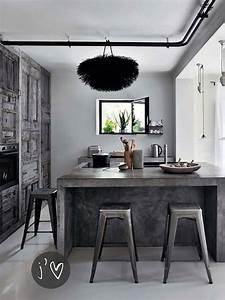 Ilot De Cuisine : ilot central en b ton ou l accent industriel dans notre cuisine design feria ~ Teatrodelosmanantiales.com Idées de Décoration
