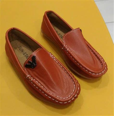 Pantofel Mocassin Coklat jual sepatu anak impor pantofel boys coklat di lapak