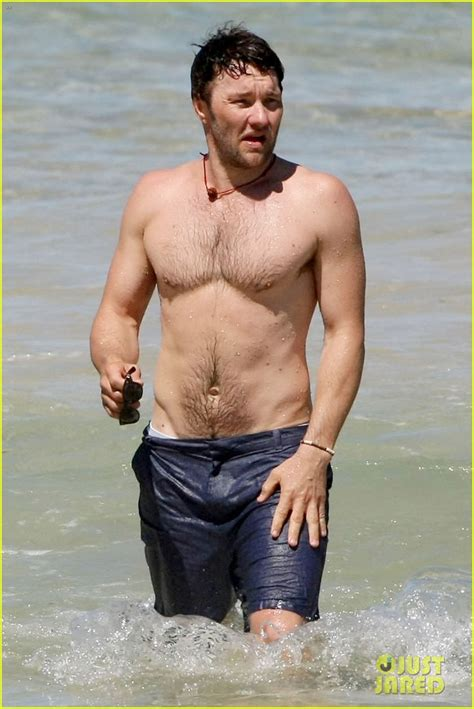 full sized photo  joel edgerton shirtless dip  bondi