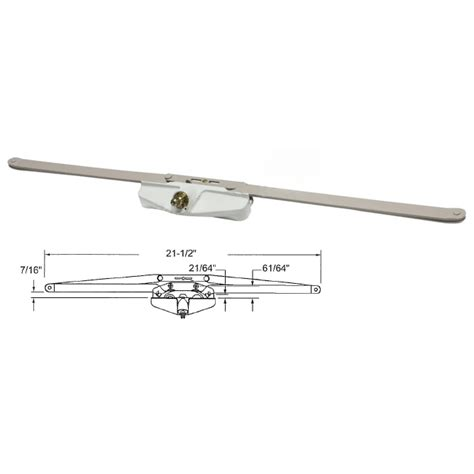 truth hardware   single pull roto gear awning window