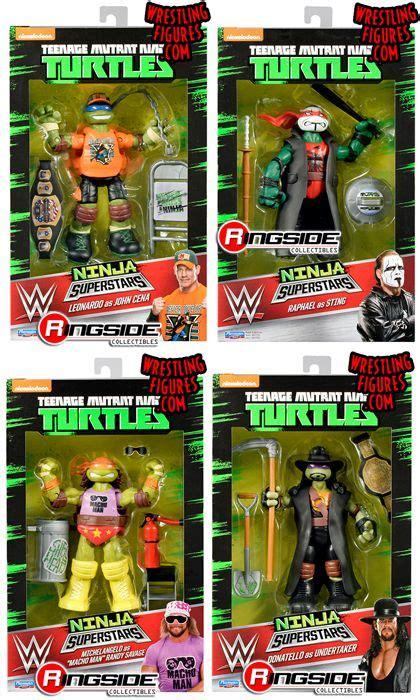 tmnt wwe ninja superstars  teenage mutant ninja turtles   gear   favorite wwe