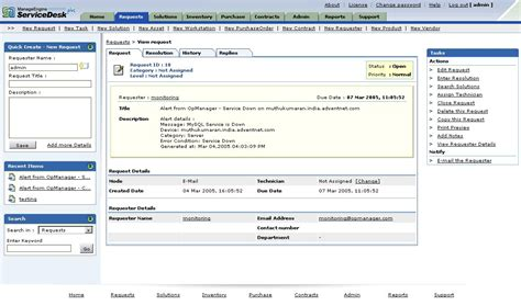 manage engine service desk plus opmanager nms integration with help desk software