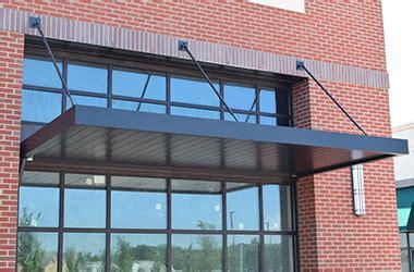 prefabricated aluminum canopy  flat metal canopy   custom manufactured   exact