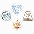"""The four Elements Avatar symbols"" Stickers by Ellen ..."