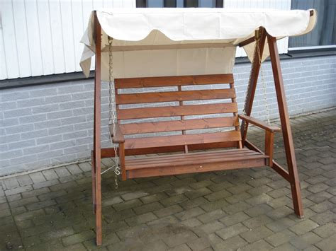 mellby 2 seater swing hammock honey eden wood