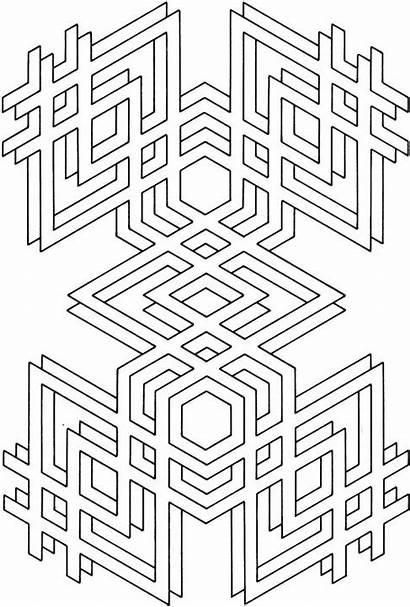 Coloring Pages Printable Geometric Mandala Shapes Adult