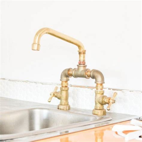 Bathroom And Kitchen Fixtures by Make Your Own Faucet This Diy Brass Fixture Is Easy To