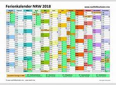 Schulferienkalender NRW 2018 in NachhilfeschulenNRW