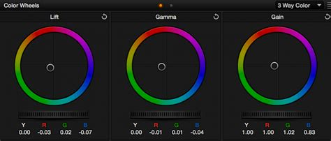 choose   color correction tool