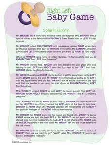 Left Right Baby Shower Poem