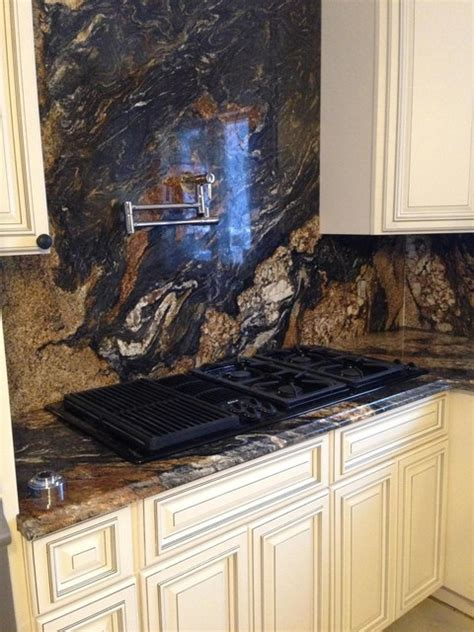 magma granite countertop  backsplash contemporary