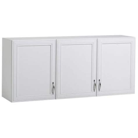 laminate cabinet doors home depot akadahome 54 in w 3 shelf laminate wall cabinet in white