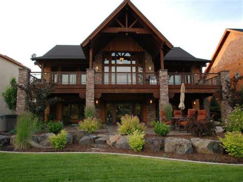house plans  walkout basement walk  ranch home designs mountain lake house plans