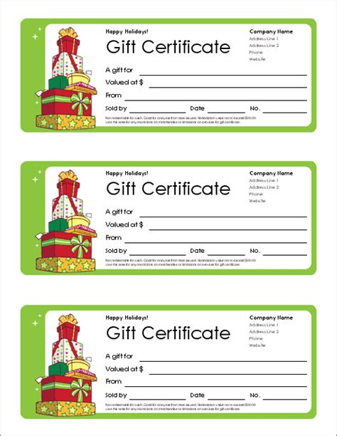 gift certificate template  tracking log