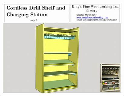 Cordless Charging Drill Station Shelf Plans Woodworking