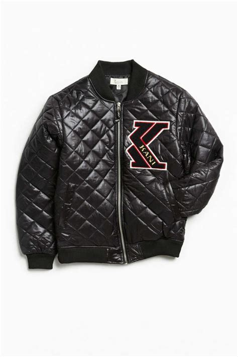 karl kani quilted ma  bomber jacket urban outfitters