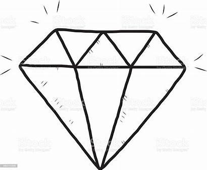 Diamond Drawn Hand Vector Illustration Sketch Background