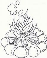 Coloring Pages Camping Fun Campfire Preschool Pm Posted sketch template