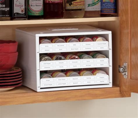 Cupboard Spice Rack Organizer by New Kitchen Storage Stack Organizer Spice Bottle Rack