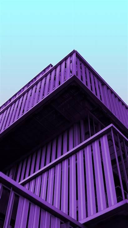 Purple Architecture Wallpapers Building Structure 4k Metal
