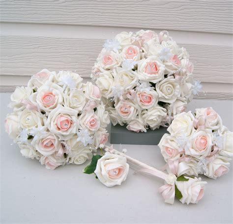 emily rose blush wedding flower package rosie silk flowers