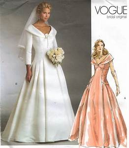 vogue pattern 2944 bridal original wedding gown bridesmaid With vogue wedding dresses