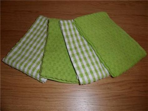 lime green kitchen towels 4 lime green kitchen tea towels 100 cotton new ebay 7106