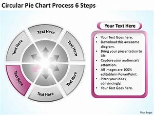 Sample Business Model Diagram Circular Pie Chart Process 6