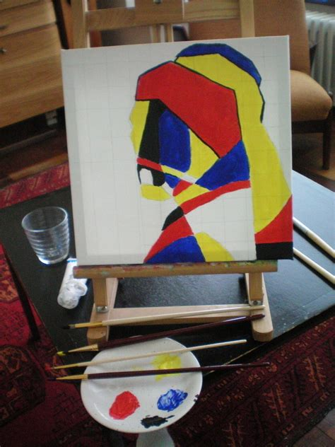 original painting   abstract portrait  tutorial  pictures