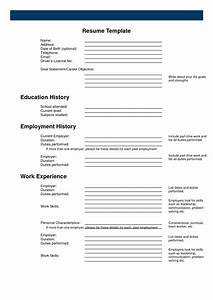 Free line Printable Resume Templates