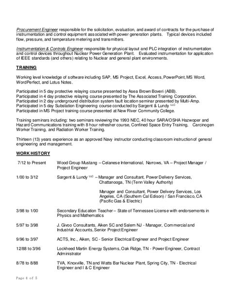 Federal Resume Exle 2016 by Michael Dunlap Resume 2016
