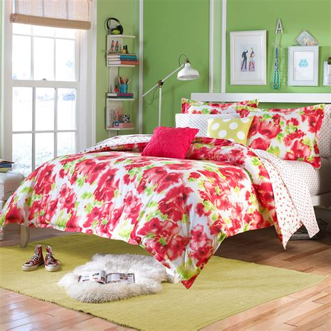 teen comforter set teen vogue painted poppy bedding collection from