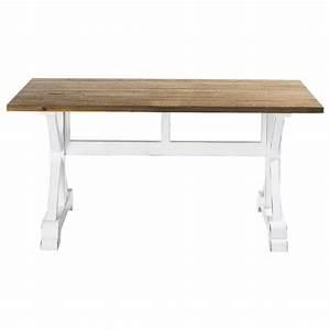 Table Maison Du Monde Bois : table de salle manger en lattes de bois recycl l 160 cm ~ Premium-room.com Idées de Décoration
